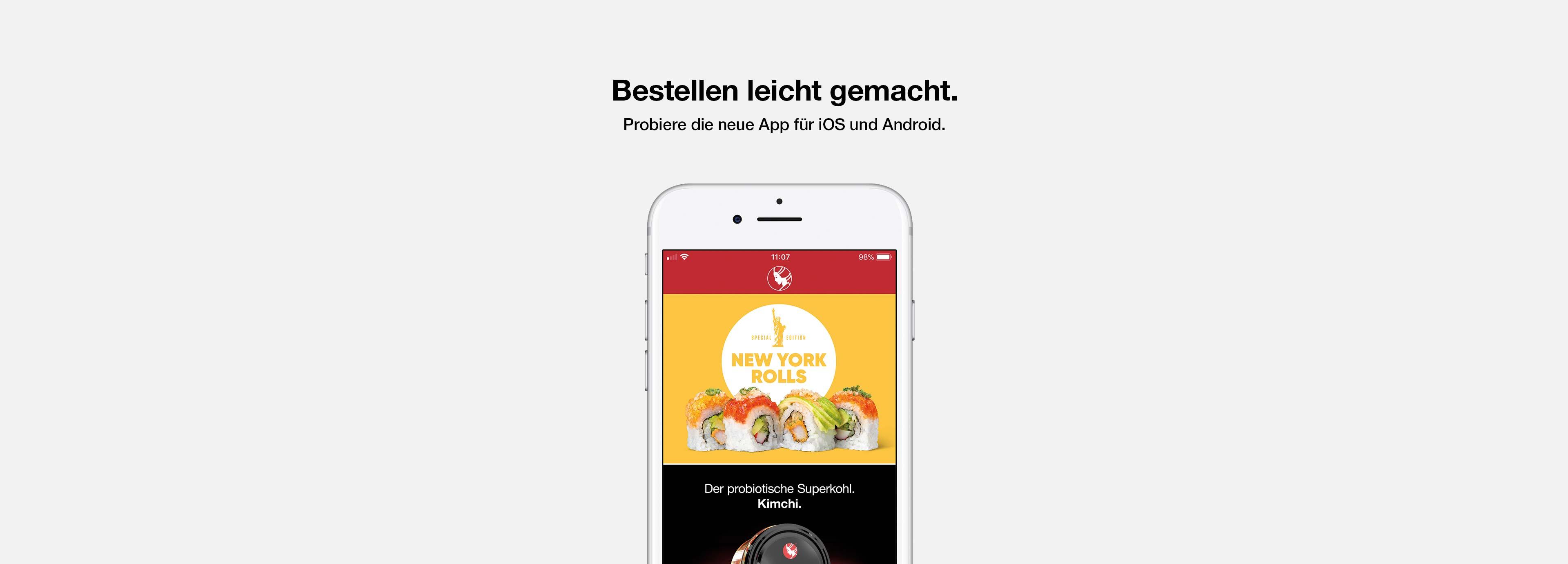Bestellen leicht gemacht - Probiere die neue App für iOS und Android