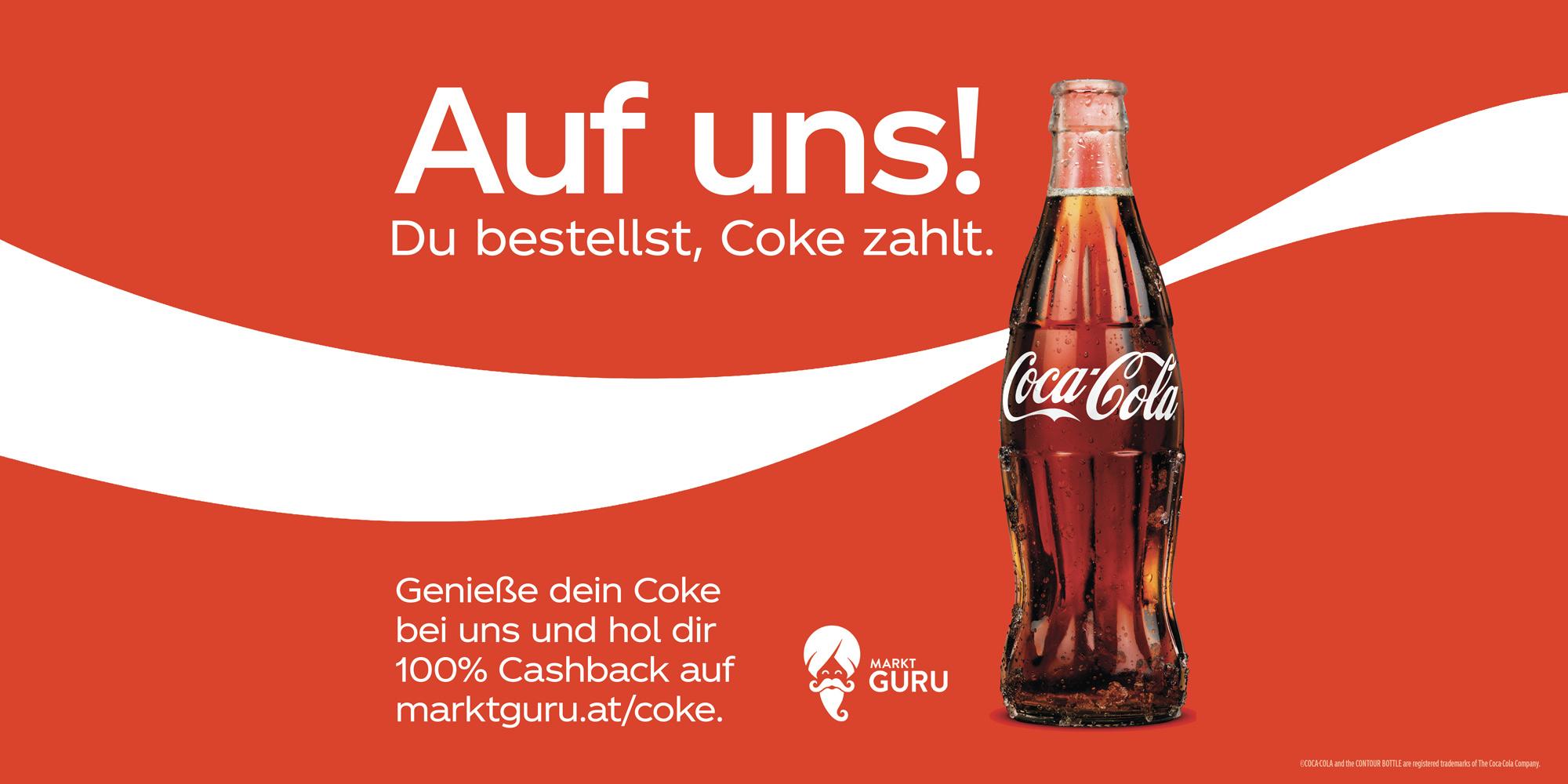 100% Cashback auf Coca-Cola in deinem Lieblingslokal